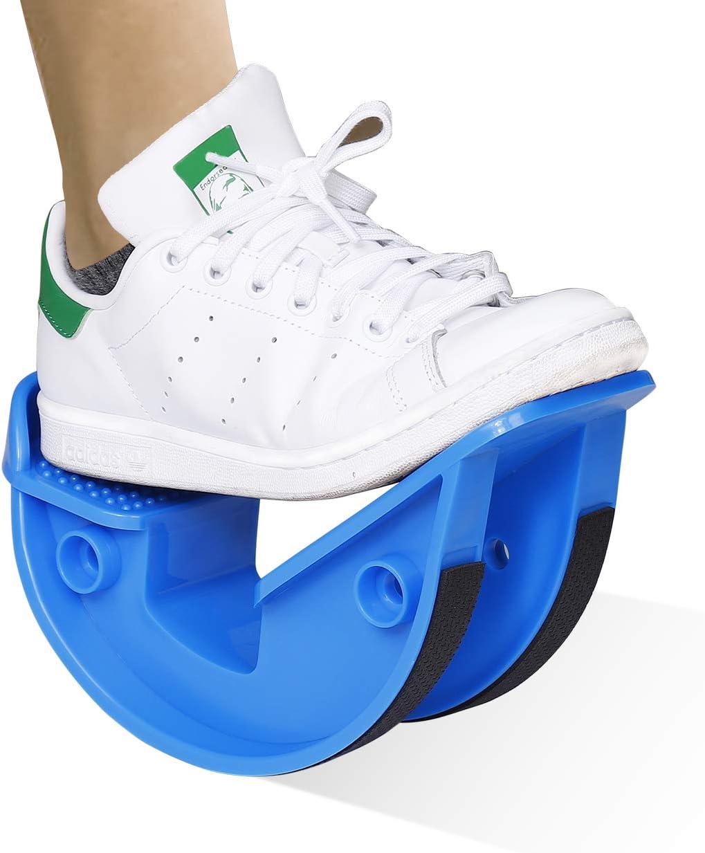 MengH-SHOP Foot Rocker Calf Profesional Camilla De Pantorrilla Pedal de Fitness Tendinitis de Aquiles, Talón, Alivio del Dolor de Fascitis Plantar, Excelente para Atletas Fisioterapia (Azul)