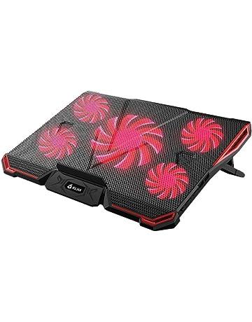 KLIM CYCLONE - Refroidisseur PC Portable - Refroidissement Maximal - 5  Ventilateurs - Support Ventilé pour af2f6fa3897b