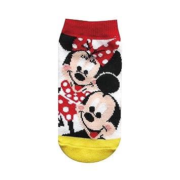 calcetines de los ni?os de Disney Mickey Mouse y Minnie Mouse blanca 13cm amarilla