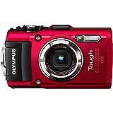 OLYMPUS デジタルカメラ STYLUS TG-3 Tough レッド 1600万画素CMOS F2.0 15m防水 100kgf耐荷重 GPS+電子コンパス&内蔵Wi-Fi TG-3 RED