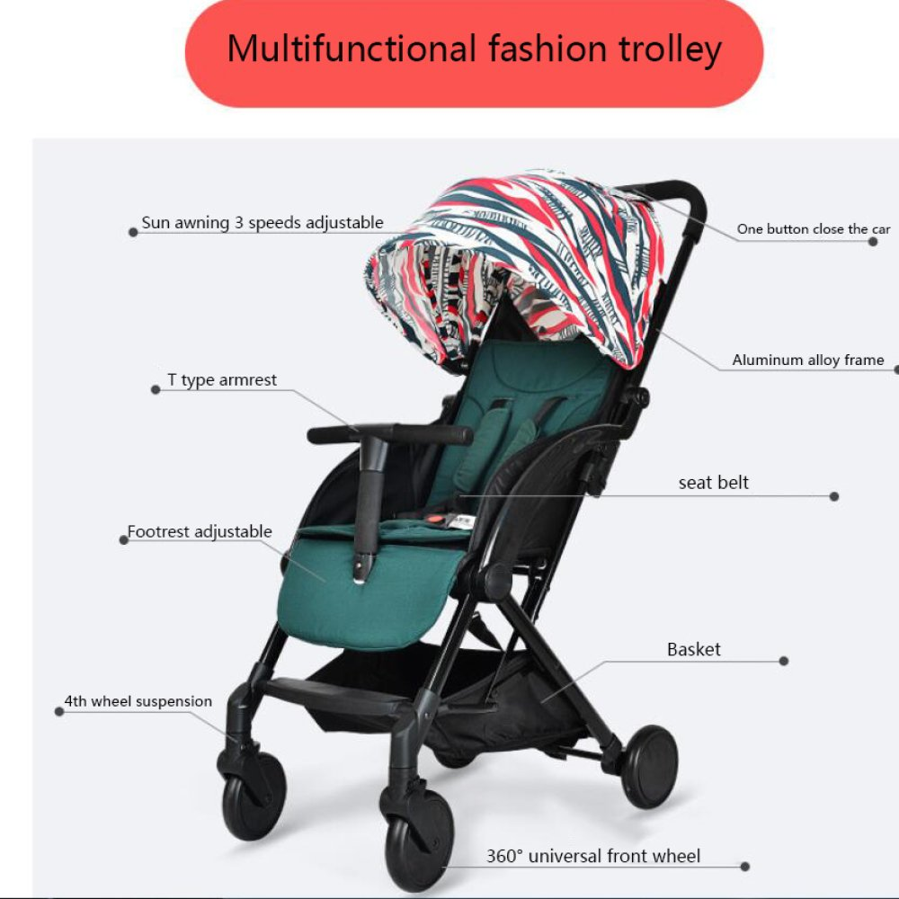 Amazon.com: QXMEI Baby Stroller Ultra-Light Portable Folding ...