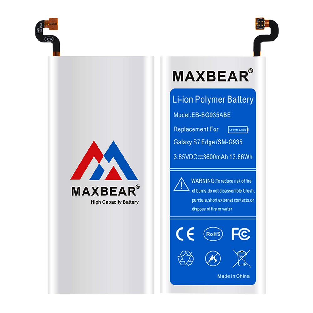 MAXBEAR Galaxy S7 Edge Battery, [3600mAh] Lithium Polymern Internal Battery Replacement for Samsung Galaxy S7 Edge SM-G935 EB-BG935ABE with Free Tool.[12 Month Warranty] by MAXBEAR (Image #5)