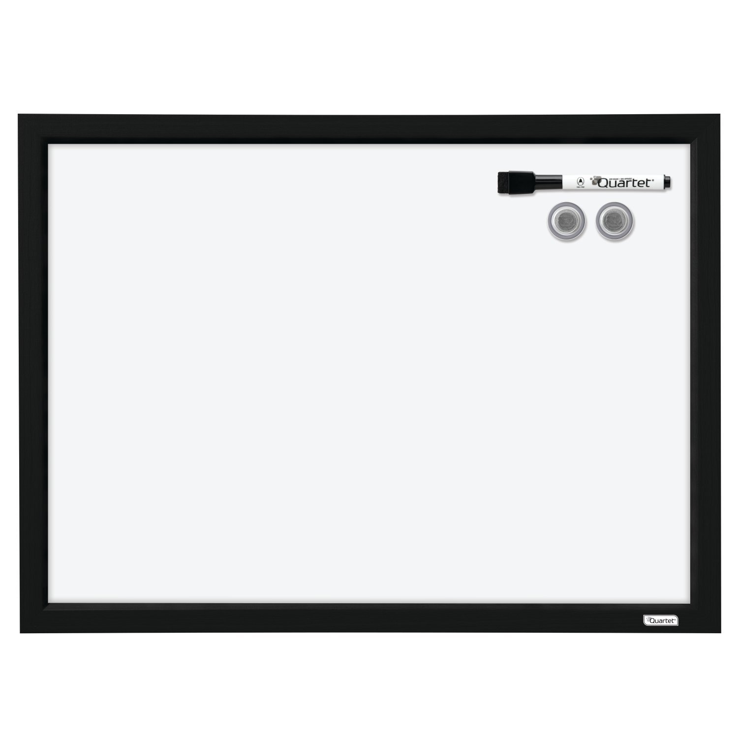 Quartet Dry Erase Board, Whiteboard/White Board, Magnetic, 17'' x 23'', Black Frame (MWDW1723M-BK)