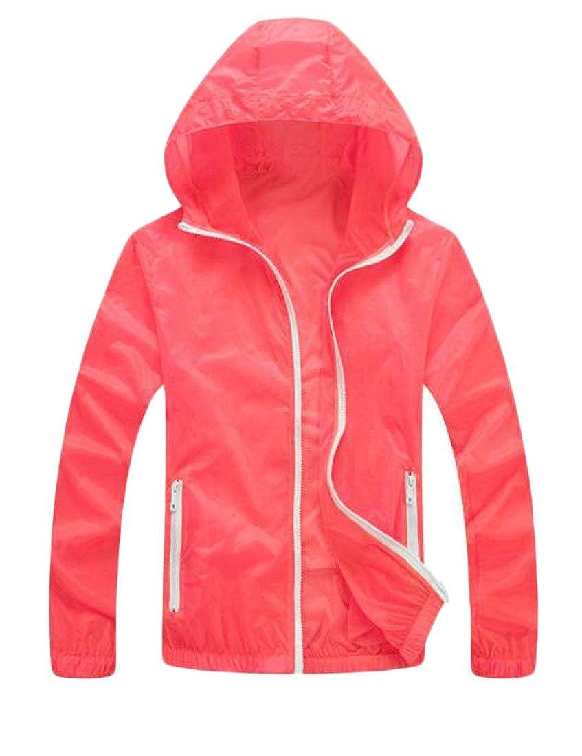UUYUK-Women Uuyuk Mens Lightweight Outwear Hooded Windproof Breathable Jacket