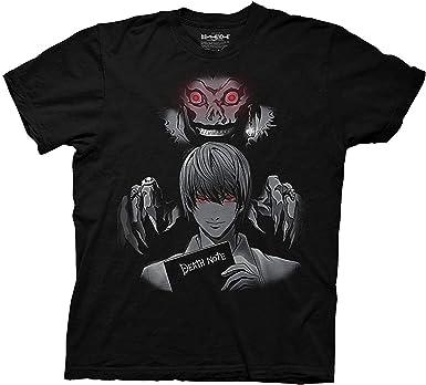Ripple Junction Mens Death Note Anime T-Shirt - Death Note Light Yagami Mens Fashion Shirt - Death Note Manga Tee