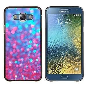 YiPhone /// Prima de resorte delgada de la cubierta del caso de Shell Armor - azul rojo bling chispeante púrpura - Samsung Galaxy E7 E700