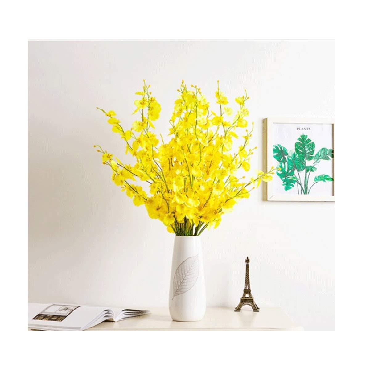 人工花セット(花瓶付き)、偽の花の花セット、家庭用リビングルーム/ポーチ/テレビキャビネット/レストラン/テーブルデコレーション、10花+花瓶に使用できます。 (Color : 10 flowers+vase) B07SMT3KYH 10 flowers+vase