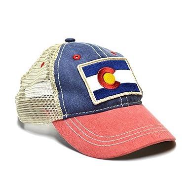 98838dabf18845 Amazon.com: YoColorado Kid's Vintage Colorado Flag Trucker Hat: Clothing