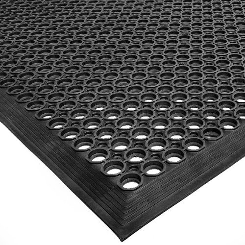 Cactus Mat 2522-C5 Rubber Vip Topdek Molded Bevel Edge Mats Senior Version, 3' x 5', Black