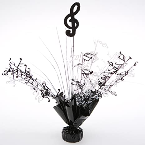 Fine Party Deco 06177 Balloon Weight Centerpiece Black Treble Clef Pack Of 6 Interior Design Ideas Ghosoteloinfo