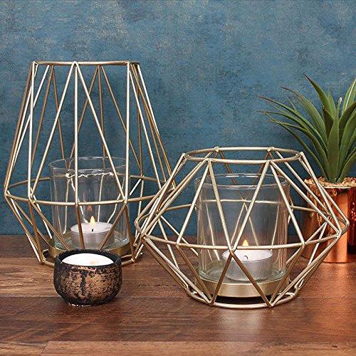 Oro geométrica jaula de alambre de metal contemporáneo moderno ...
