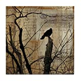 CafePress - Crow Collage - Tile Coaster, Drink Coaster, Small Trivet