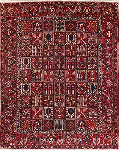 Bakhtiari Persian Style Area Rug Hand-Knotted Wool Oriental Garden Design 10x12 Bakhtiari Hand Knotted Rug