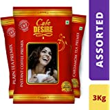 Cafe Desire Combo of Instant Coffee-Premix 1kg, Cardamom Tea-Premix-1kg, Plain Tea Premix-1kg