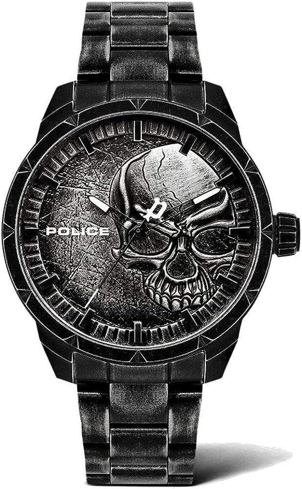 Police Reloj Analógico para Hombre de Cuarzo con Correa en Acero Inoxidable PL15715JSQU.78M