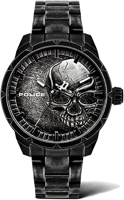 Orologio police analogico quarzo uomo con cinturino in acciaio inox pl15715jsqu.78m