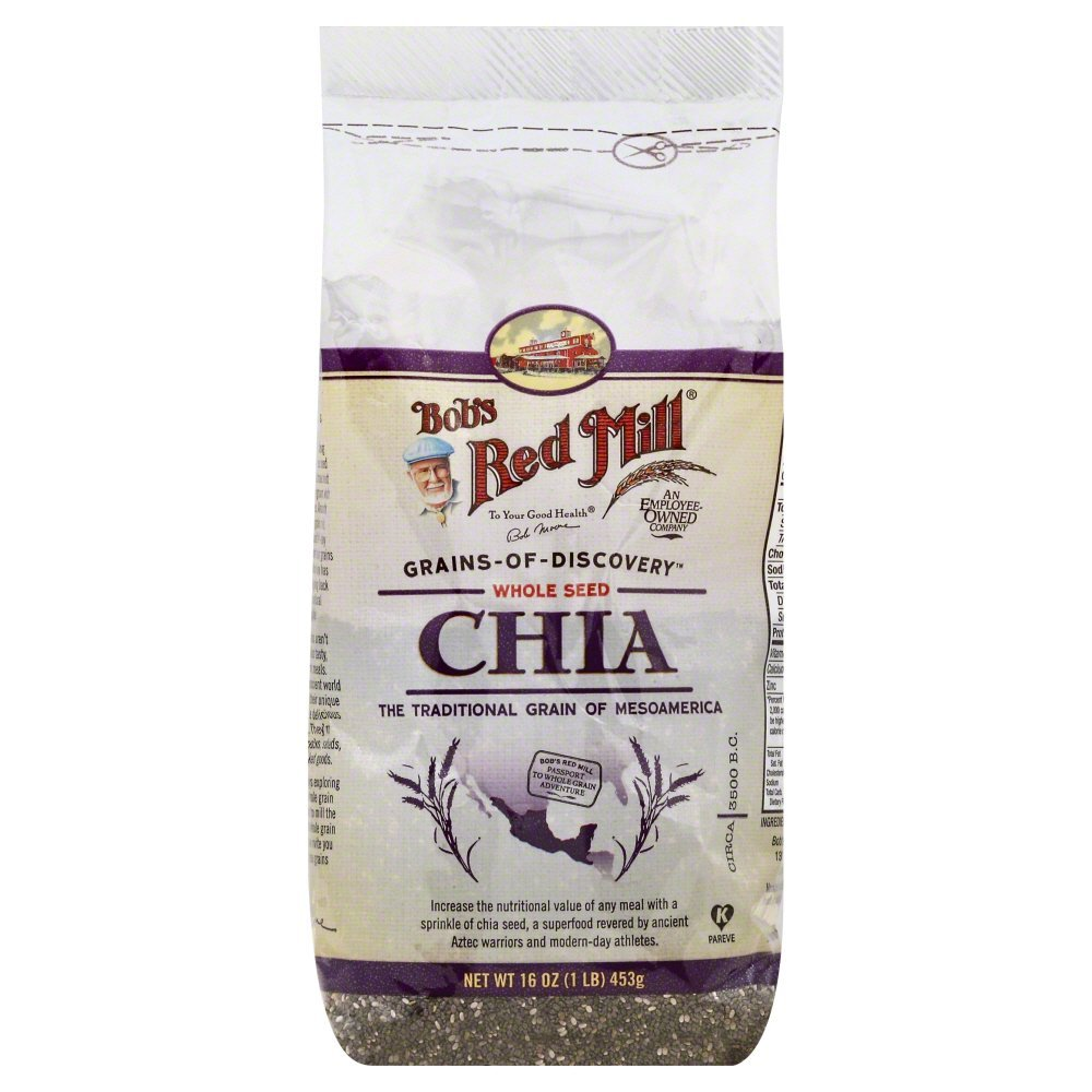Bobs Red Mill Chia Seeds 16.0 OZ(Pack of 12)