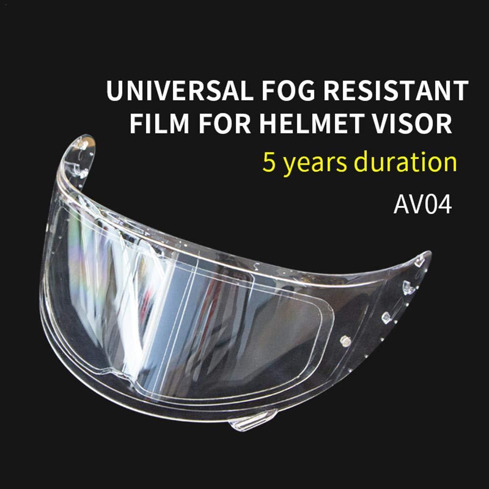 Ingeniously Pellicola antiappannamento per Casco Lente per Casco Pellicola antiappannamento Adesivo Visiera Trasparente Universale Accessori Moto Anti Nebbia per Inserto