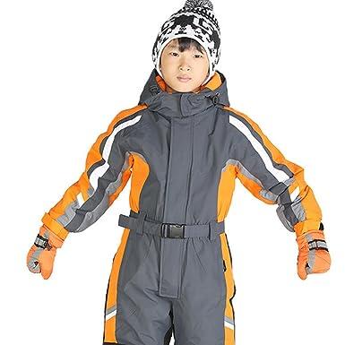 80dbbfc5d PRESELF  One-Piece Winter Snowsuit For Boys Girls Waterproof ...