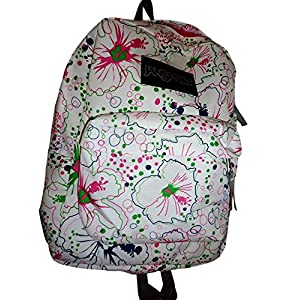 Jansport Superbreak Backpack White Pink Maui