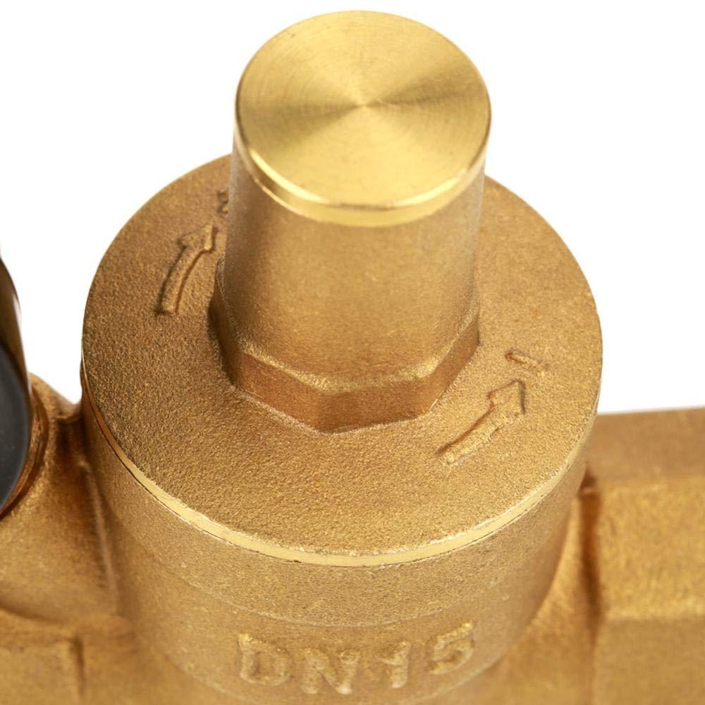 Goick Brass Adjustable Water Pressure Regulator Pressure Regulator Water Supply Equipment//Replacement Part DN15 with Gauge Meter