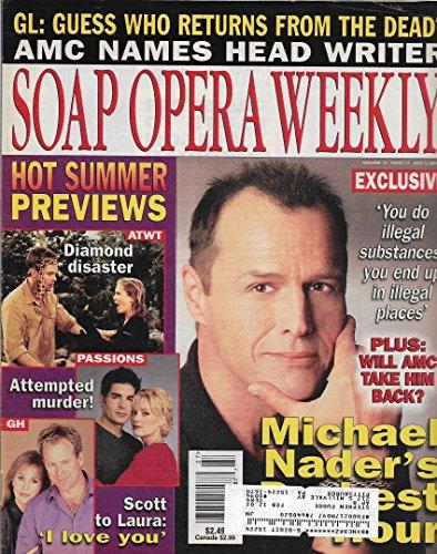 Soap Opera Weekly Magazine - July 3, 2001 - Michael Nader (All My Children) l Genie Francis & Kin Shriner l Galen Gering & McKenzie Westmore l Trent Dawson & Terri Conn