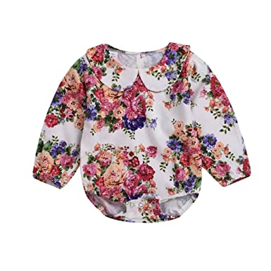 Amazon.com: Sunhusing Infant Toddler Baby Girl Broken Floral Print Long Sleeve Romper Jumpsuit Romper Clothes: Clothing