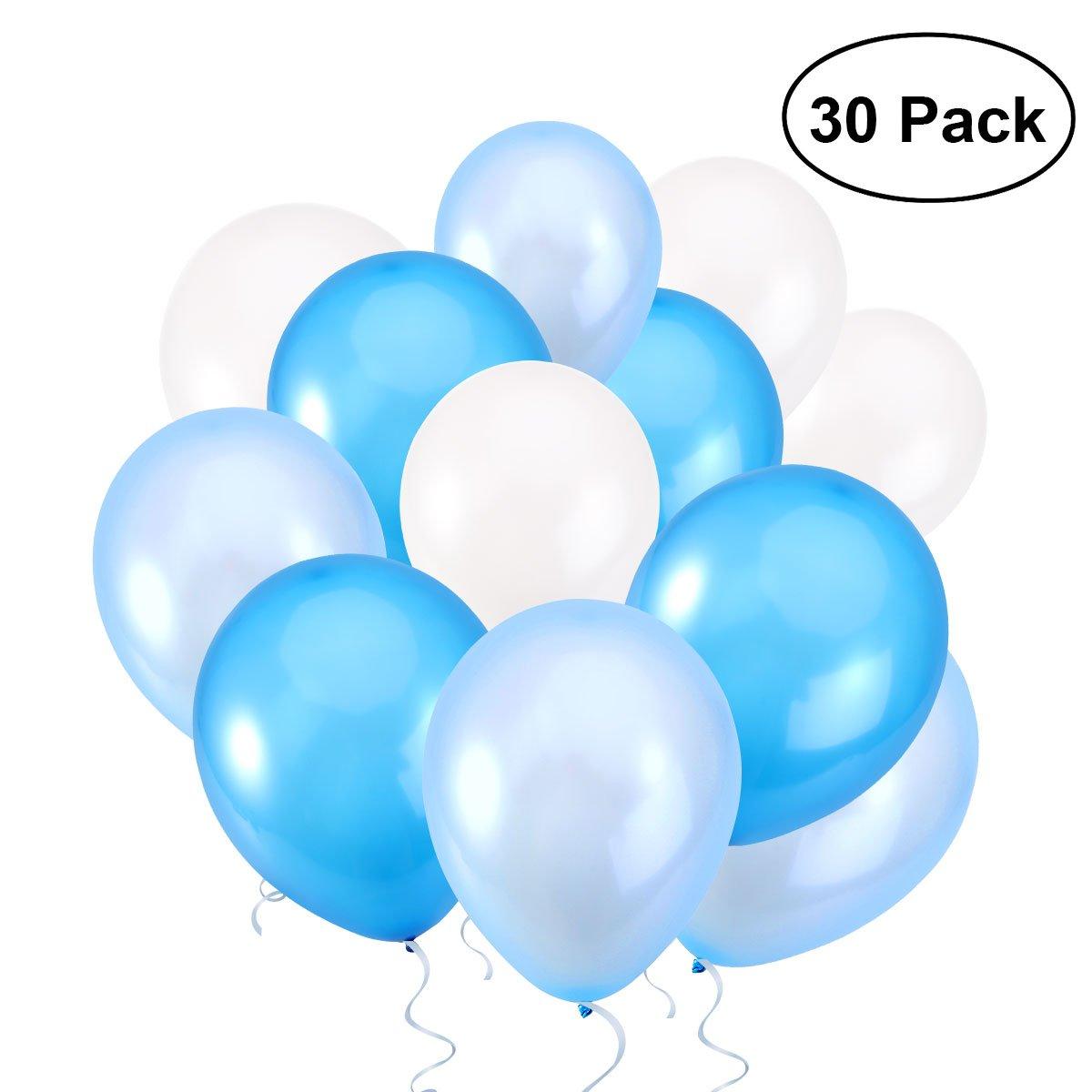 NUOLUX 30pcs 12 pollici palloncini blu palloncini per festa di nozze, 3 colori