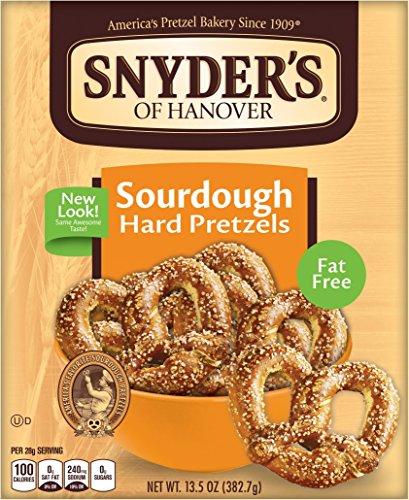 Hanover Sourdough Pretzels (Snyder's of Hanover Hard Sourdough Hard Pretzels, 13.5-Ounce Box (Pack of)