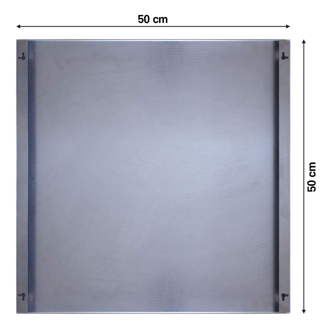 Memoboard magnetisch 50x50cm Pinnwand mit Motiv Pause banjado Magnettafel aus Edelstahl