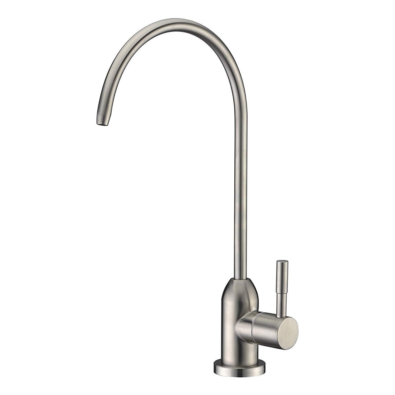 Avola Kitchen Sink Pot Filler Faucet,Wall Mounted Brushed Nickel Stainless Steel