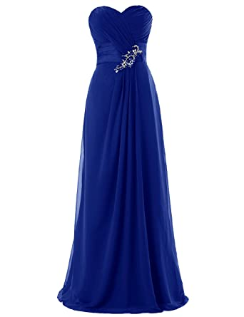 DRESSTELLS Long Chiffon Prom Dress with Beadings