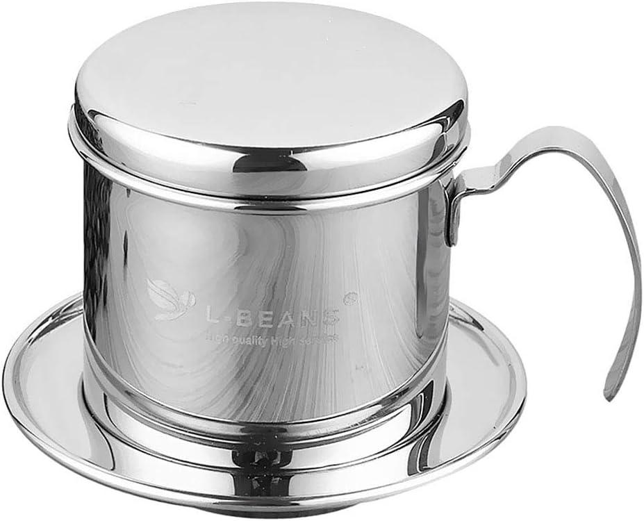 Vietnamien - Cafetera de acero inoxidable con filtro de taza de ...