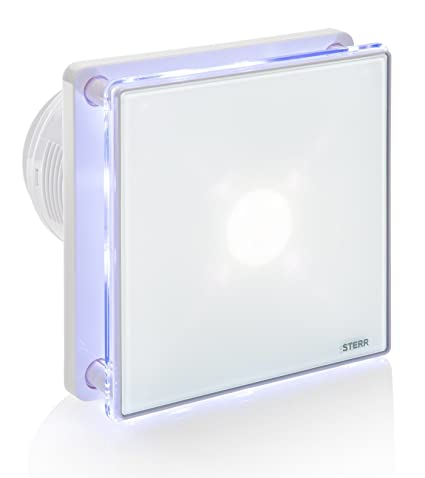 Peachy Sterr Bathroom Extractor Fan With Led Backlight And A Timer 100 Mm 4 Bfs100Lt Beutiful Home Inspiration Xortanetmahrainfo