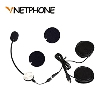 VNETPHONE® Micrófono Auriculares para V8 Motos Casco Bluetooth Intercomunicador Interphone