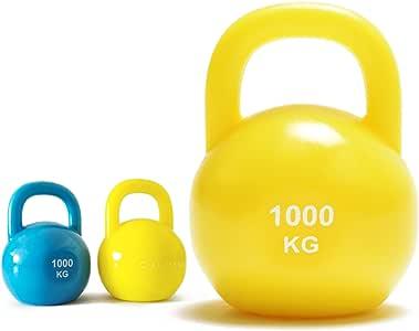 C.J. Mini pesa rusa llavero con citas, amarillo: Amazon.es: Deportes y aire libre