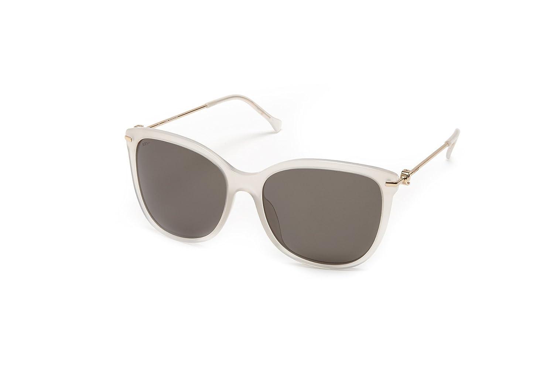 LOEWE Women' 's SLW947G60092Y Sunglasses, White (Shiny Flax), 60