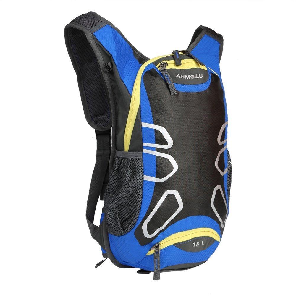 Hiking バックパック 15L 超軽量 防水 ナイロン サイクリング ショルダー バックパック 旅行 バックパック ナップサック パック バッグ 水分補給 ウォーターバッグ アウトドア スポーツ ライディング 旅行 登山  ブルー B01N64I7MW