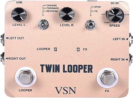 Twin Looper - Pedal eléctrico para guitarra con 11 tipos de juego ...
