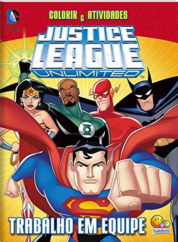 Colorir e Atividades. Justice League. Trabalho em Equipe