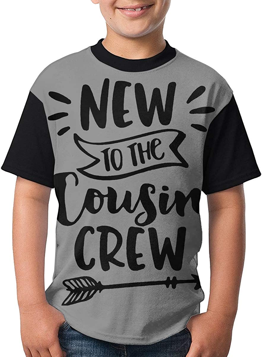 New to The Cousin Crew Boys 3D Printing Round Neck T Shirt Lightweight Short Sleeve T-Shirts