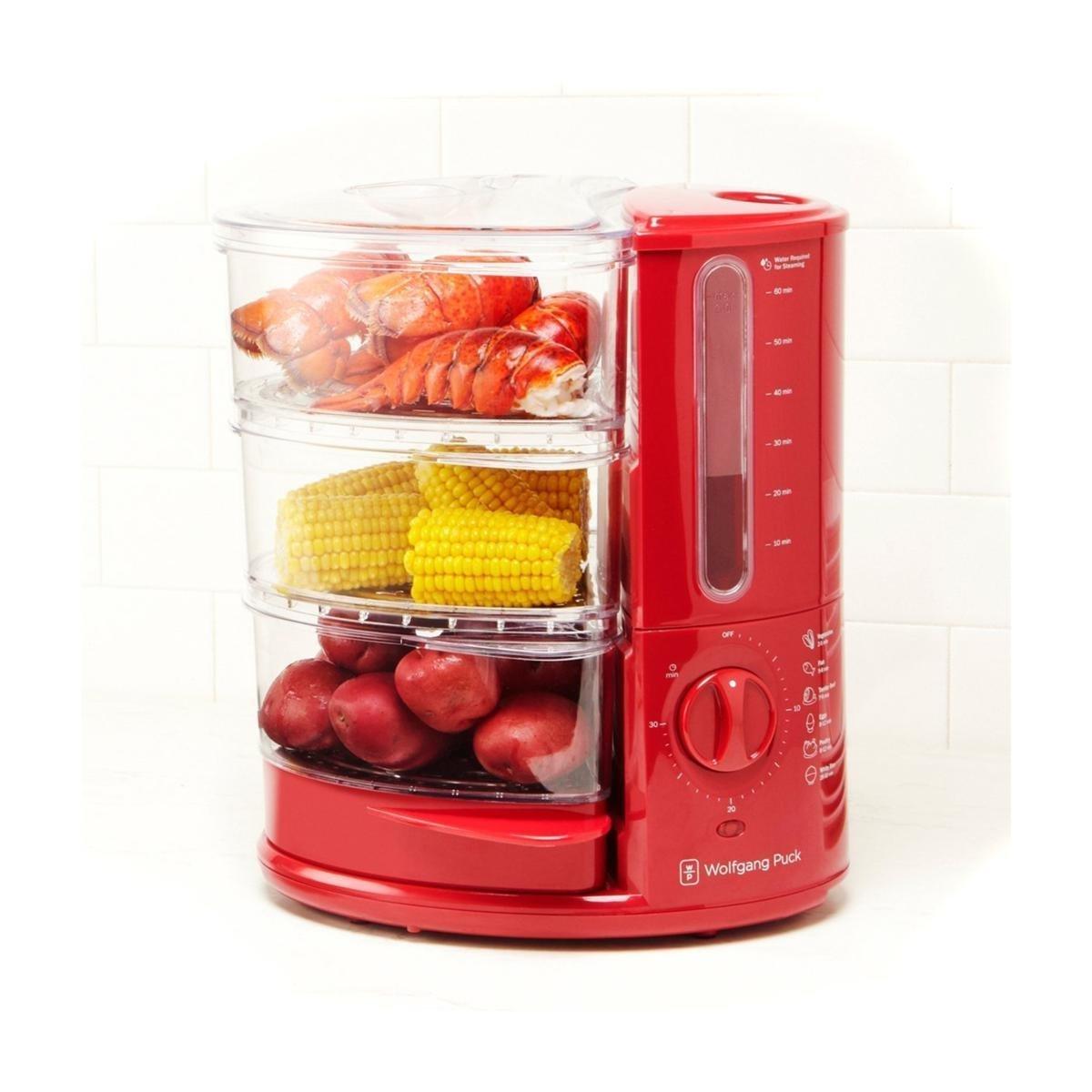 WP 3 Tier Rapid Food Steamer 1400W Red