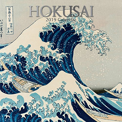 - 2019 Wall Calendar - Hokusai Art Calendar, 12 x 12 Inch Monthly View, 16-Month, Famous Artists and Artworks Theme, Includes 180 Reminder Stickers