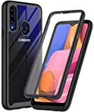 ONOLA Designed for Galaxy A20S Case,Three Defense Built-in Screen Protector Crystal Clear Full Body Shockproof Slim Fit…