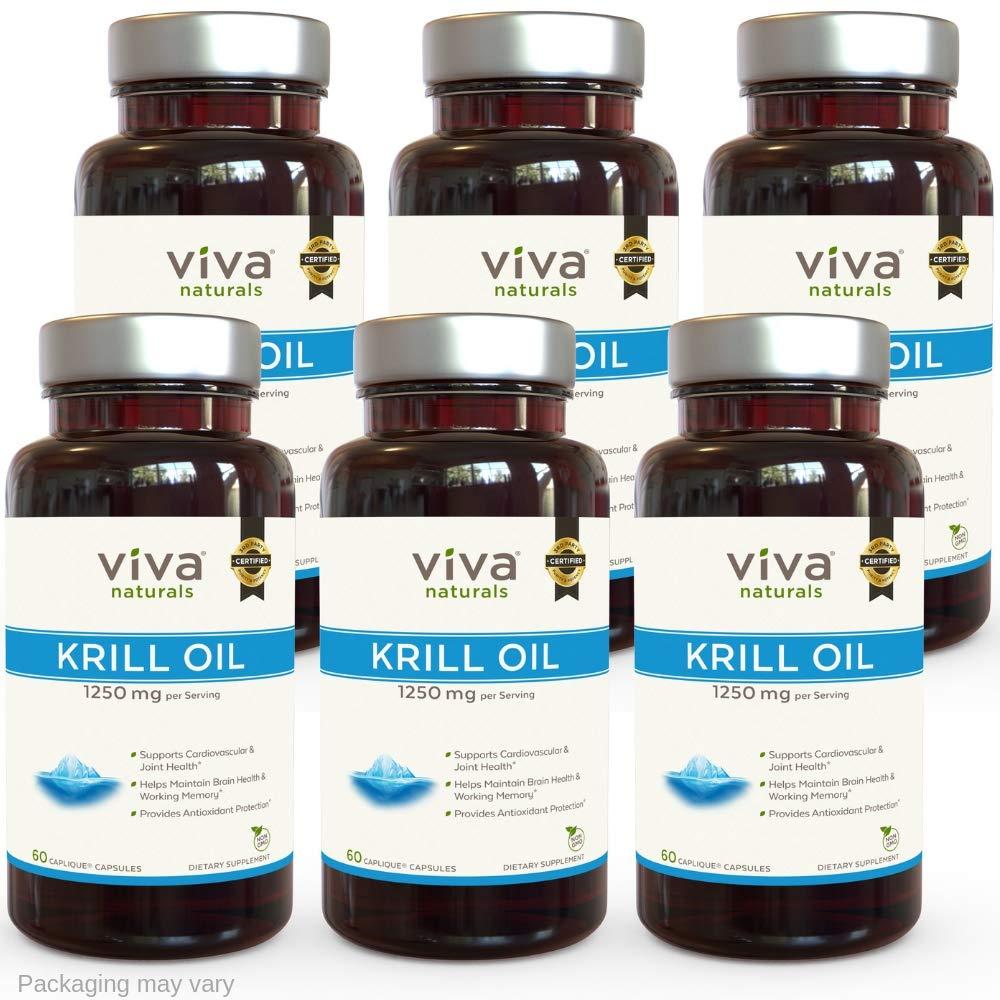 Viva Labs Krill Oil - 6 Bottles (360 Capsules): Amazon.es: Salud y cuidado personal