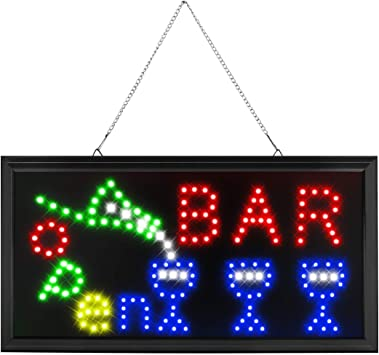 """19/""""x10/"""" Flashing LED Neon Business Sign 24 Hours Open Light Bar Club Pub Store"""
