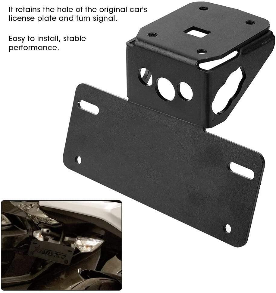 Court Moto Porte Plaque dimmatriculation Support Compatible with Kawasaki Cadre Fit Z650 Ninja650 17-19 KSTE Support De Plaque
