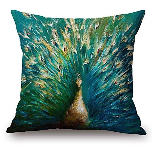 SLS Cotton Linen Decorative Throw Pillow Case Cushion Cover lion Piillow case 18