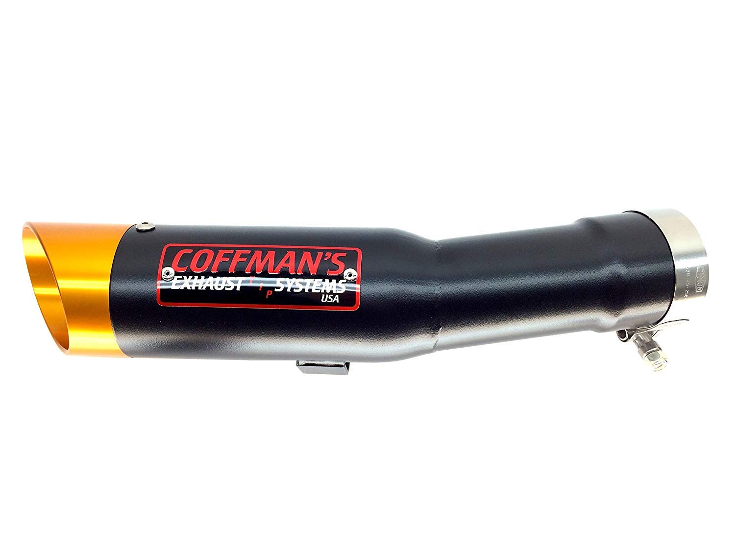 Coffmans Shorty Slip-On Exhaust for Yamaha FZ1 2001-2005 Sportbike with Polished Tip