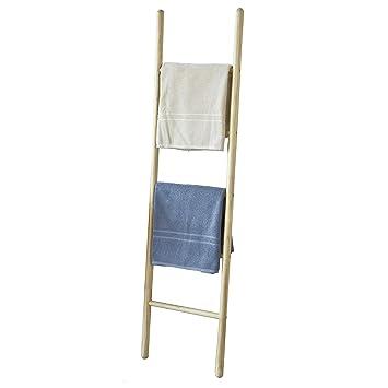 Soporte para toallas de baño de estilo escalera con 5 varillas (160 cm de alto), modelo FRG187-N de la marca SoBuy®: Amazon.es: Bricolaje y herramientas